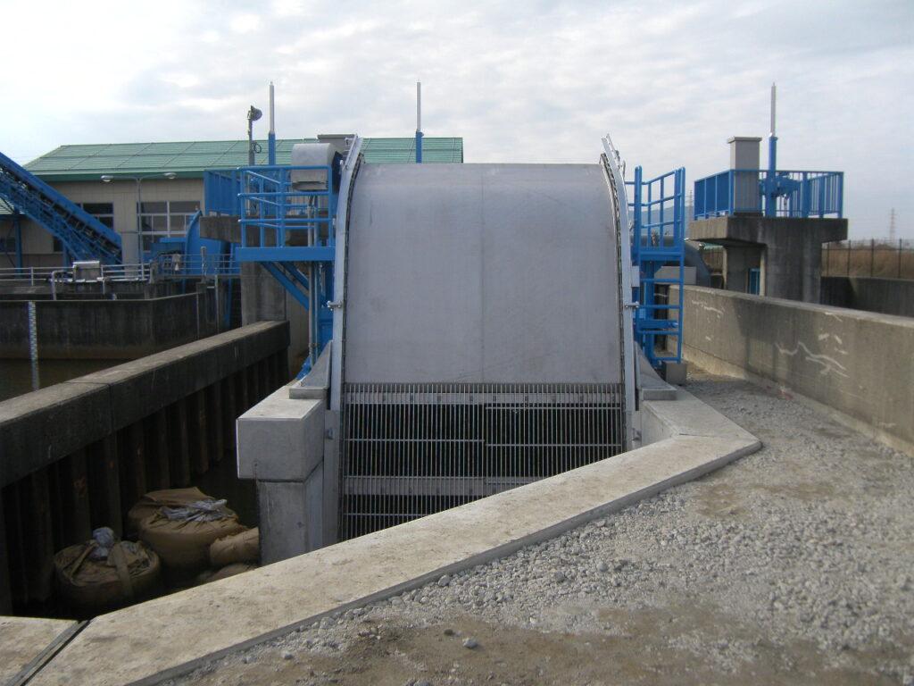 西蒲原排水4期地区飛落3号排水機場除塵機