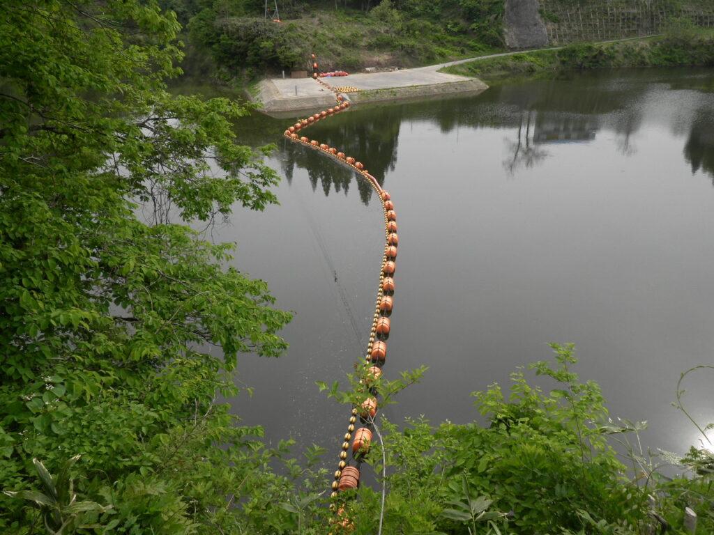 鯖石川ダム上流網場